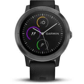 Garmin vívoactive 3 Montre GPS sport avec bracelet en silicone noir, schiefer